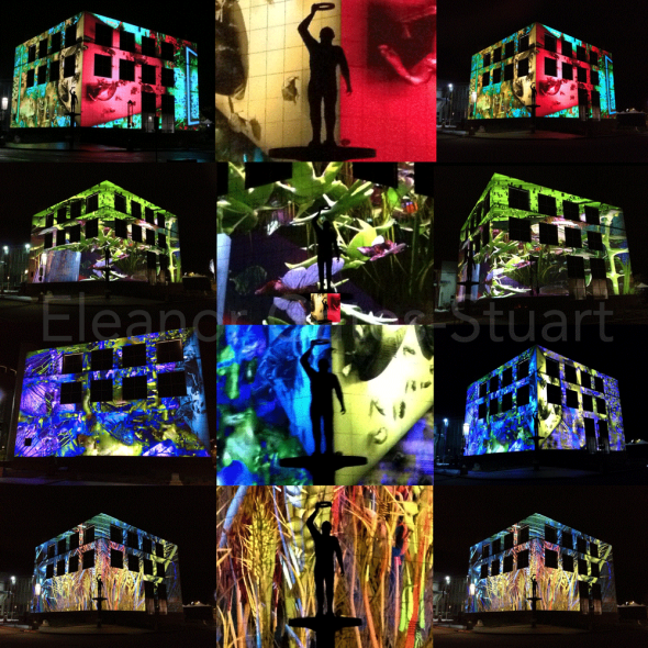 Architectural Projections on Questacon by Eleanor Gates-Stuart