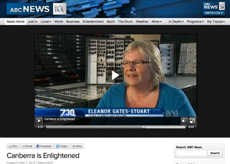 Canberra is Enlightened, ABC 7.30 Report by Chris Kimball
