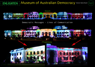 Enlighten 2013: Museum of Australian Democracy Architectural Projections by Eleanor Gates-Stuart