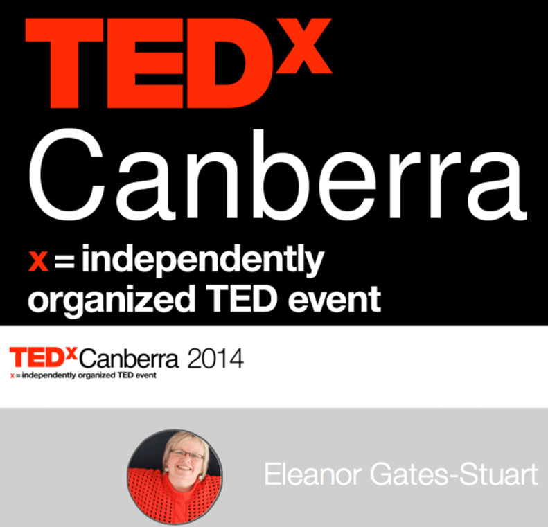 Eleanor Gates-Stuart, Presenter: TEDxCanberra 2014
