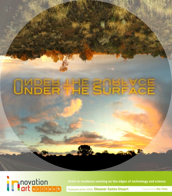 'Under the Surface' by Eleanor Gates-Stuart, Scitech's Artist in Residence 2016