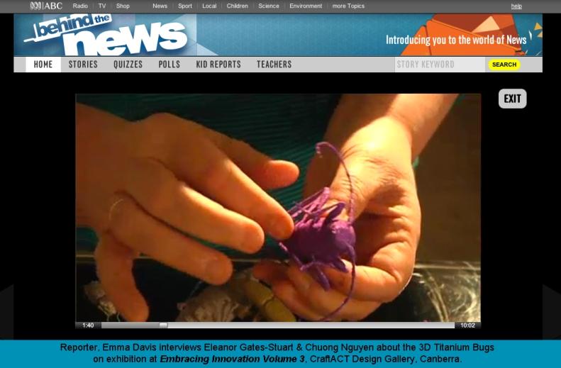 3D Creepy Crawley Bugs by ABC Behind the News