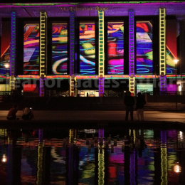 National Library of Australia Artwork by Eleanor Gates-Stuart, Enlighten Canberra 2013