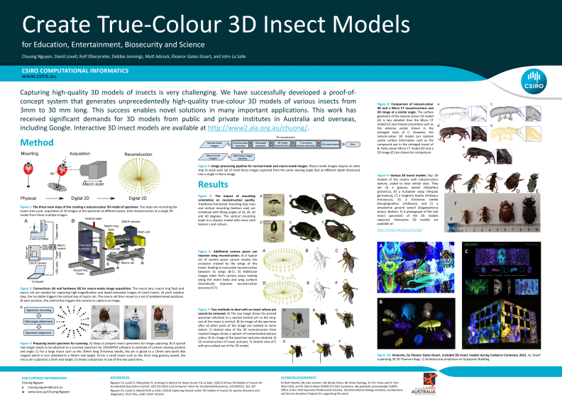 Virtual 3D Models of Insects