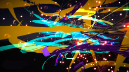 """Image Capture: Painting with Google Tilt Brush, """"Abstracts' by Eleanor Gates-Stuart"""