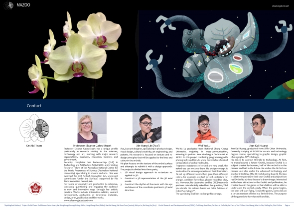 Mazoo, a mythological science-art spaceship laboratory travelling the galaxy (in this case the internet) on its journey, sharing knowledge of the wonderful Orchid plant species. https://issuu.com/eleanorgatestuart/docs/mazoo