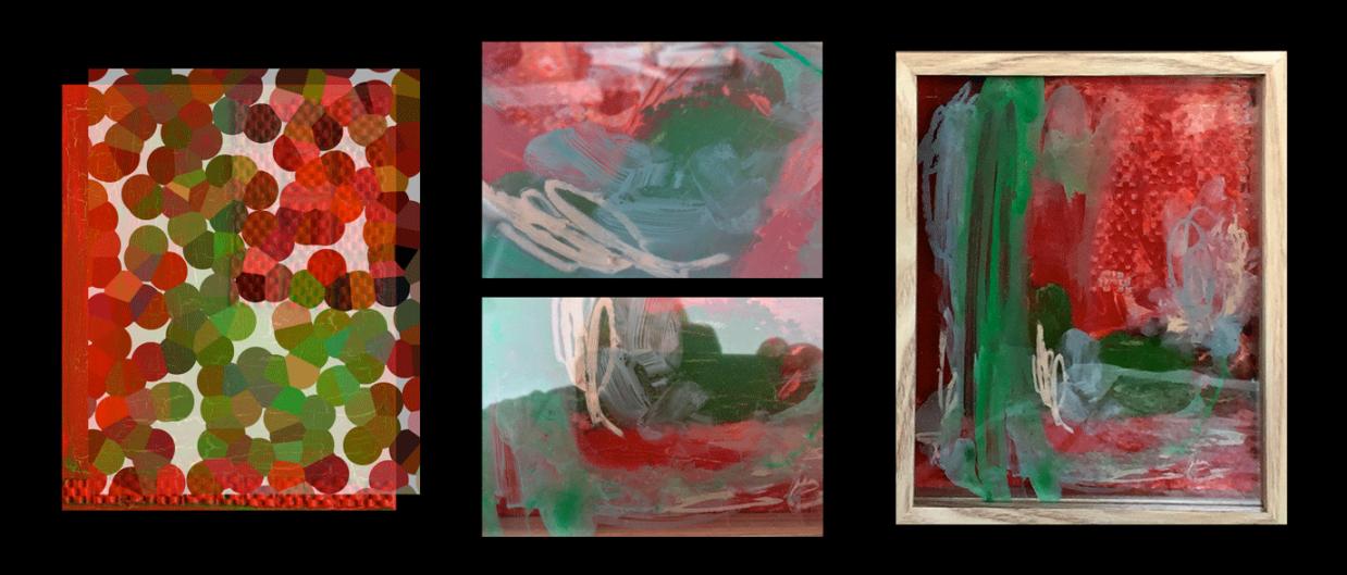 'Evolving Virus' paintings by Eleanor Gates-Stuart