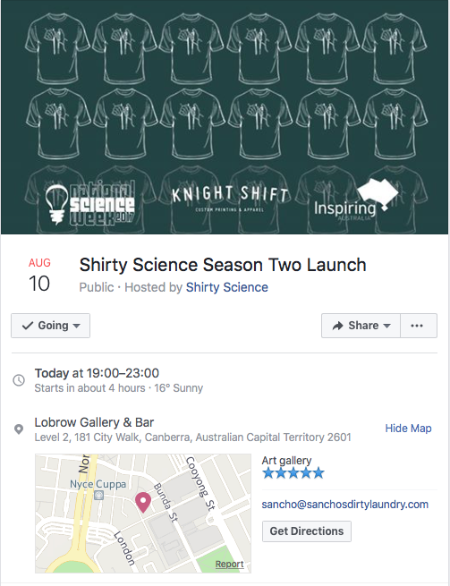 Shirty Science Event