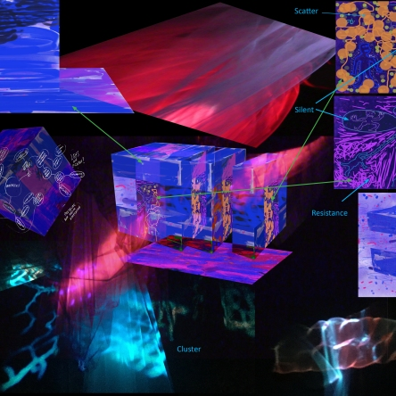 'Thought System' - visual mapping for The Immersive Mesopelagic Performance Lab (IMPel)