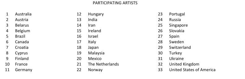 Participating Artists - Postcard Perspectives