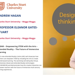 Professor Eleanor Gates-Stuart and Andrew Hagan participating in STEM 2020 on Demand