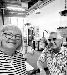 Dr Eleanor Gates-Stuart and Dr Sergio Moroni at Charles Sturt University